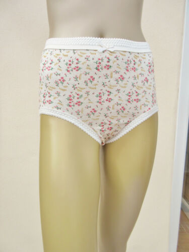 "Womens 3 Pack Mixed Floral Cotton Full Briefs 38-40/""// 46-48/"" //50-52/"" Sabrina"