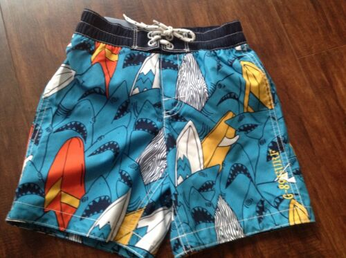 NWT BABYGAP TODDLER BOY SWIM PANT  3YRS ETHEREAL BLUE//SHARK