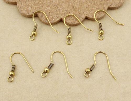 Wholesale 100//500Pcs Dangle Earring Hook Eardrop Earring DIY Finding 7Colors