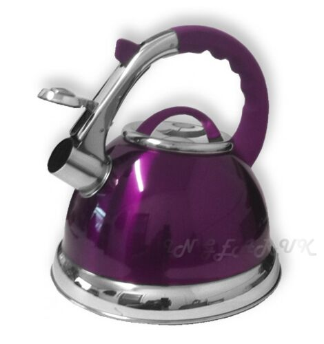 Waterkokers Large Whistling Kettle stainless steel 3.5Ltr