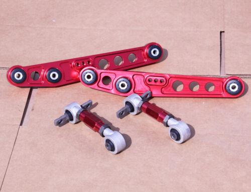 GEN 2 RED REAR LOWER CONTROL ARM CAMBER SUSPENSION KIT INTEGRA 94-01 DC2 DC4 GSR