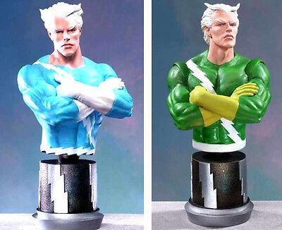 Quicksilver Blue /& Green Bust Statue Set of 2 Bowen Marvel Comics .