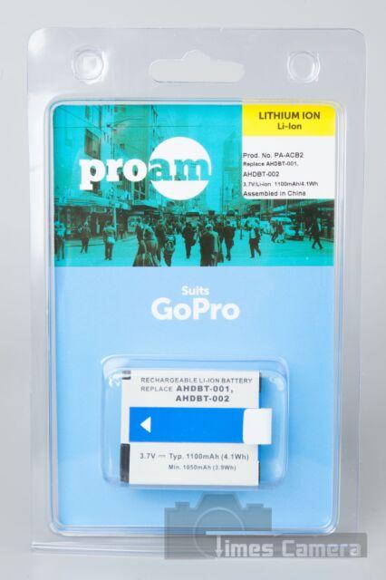 ProAm PA-ACB2 AHDBT-001 AHDBT-002 Lithium-Ion Battery for GoPro HD HERO HERO2