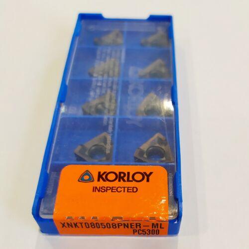 10 pcs KORLOY XNKT 080508PNER-ML PC5300 milling carbide inserts XNKT080508PNER