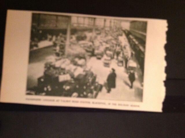 m57d ephemera 1927 picture trains railway talbot road station blackpool