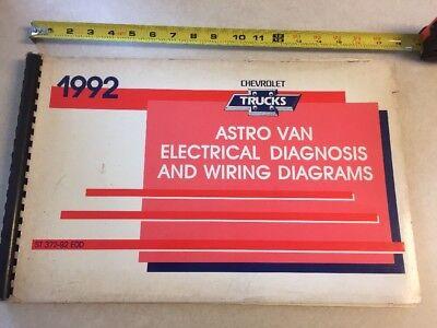 1992 Chevrolet Astro Van Electrical Wiring Diagram Diagnostics Service Manual 92 Ebay
