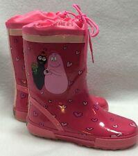 Barbapapa Girls Youth/Toddler 11 Rainboots Pink Barbamama Hearts Europe 28