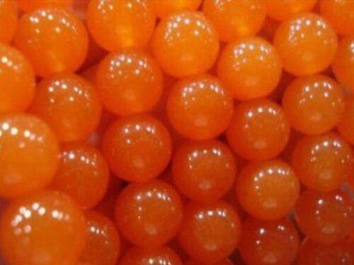 "Nuevo 6-14mm Naranja Jade Redondo Piedra Preciosa Suelta granos 15 /""AAA"