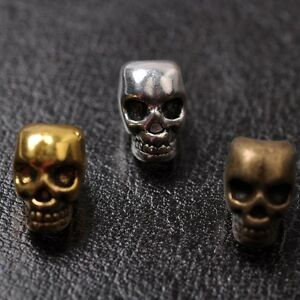 10Pcs Tibetan Silver Skull Charms Beads Jewelry Findings 13X10MM C810