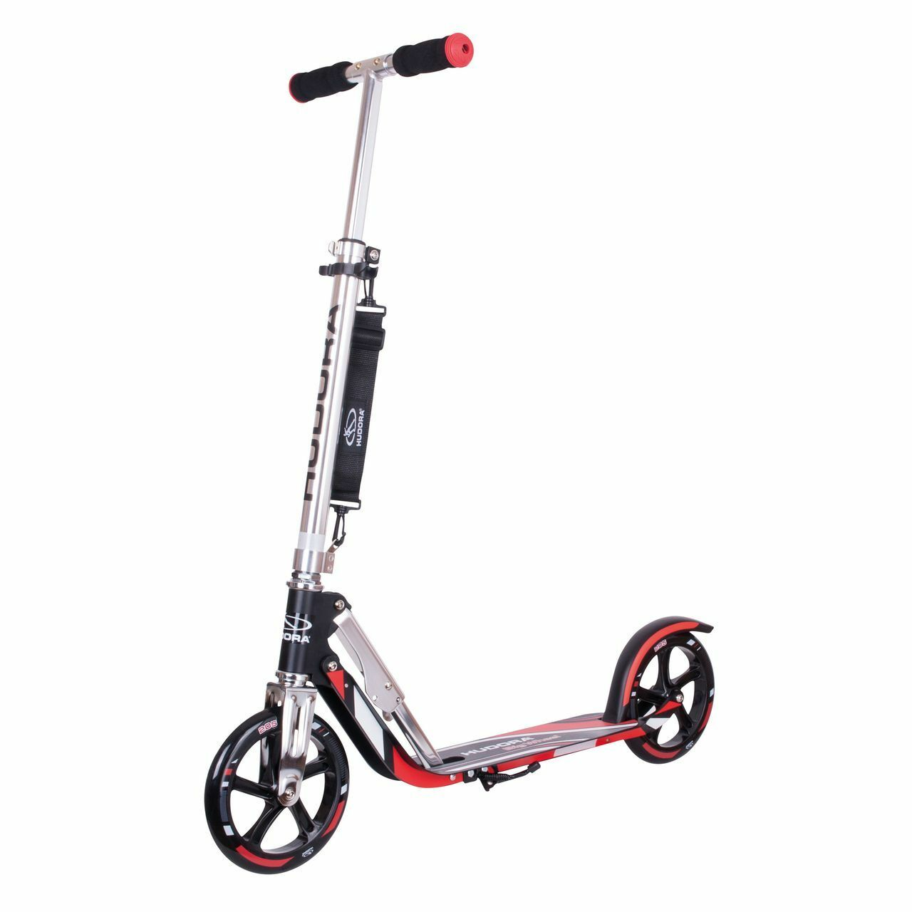 HUDORA Scooter Roller Big Wheel RX 205 Racing schwarz-rot