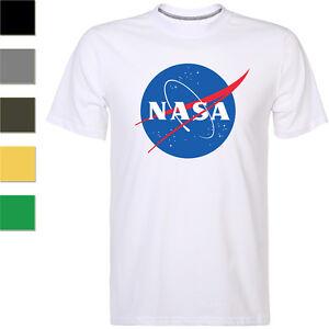 NASA-Space-Symbol-Astronaut-Men-039-s-T-shirt-Short-Sleeved-Tee-AG025
