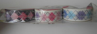 PACK 3 BEAUTIFUL CRAFT  DIAMONDS TAPE EMBELLISHMENTS FOR CARDS OR CRAFTS