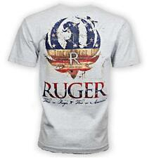 New RUGER AMERICAN Logo 2-XL Gray Tee Shirt Licenced Official Genuine Original