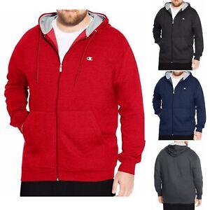 Champion Big /& Tall Men/'s Zip Fleece Hoodie