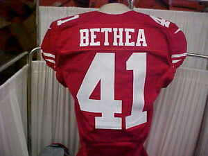 outlet store 97ccf a02ce Details about 2016 NFL San Francisco 49ers Game Worn Jersey #41 Antoine  Bethea Size 42