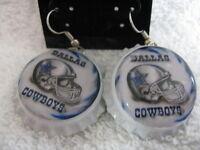 1 Bottle Cap Image Earrings Handcrafted Gift Idea Cowboys
