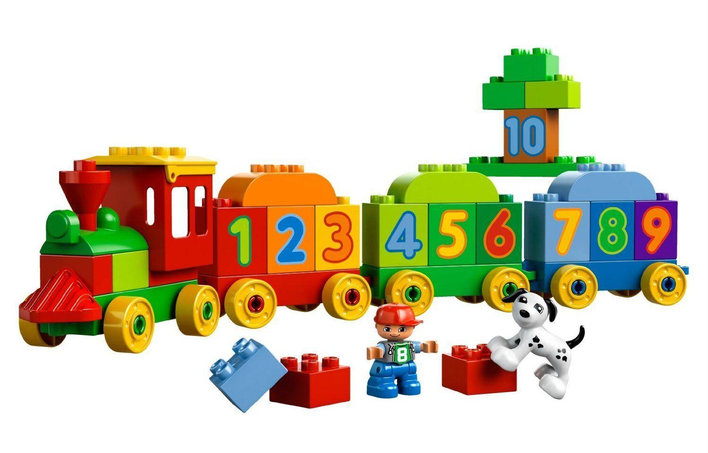 Kinder Lego Duplo Zahlenzug Mini Figuren Hund Wagenelementen Spielzeug NEU