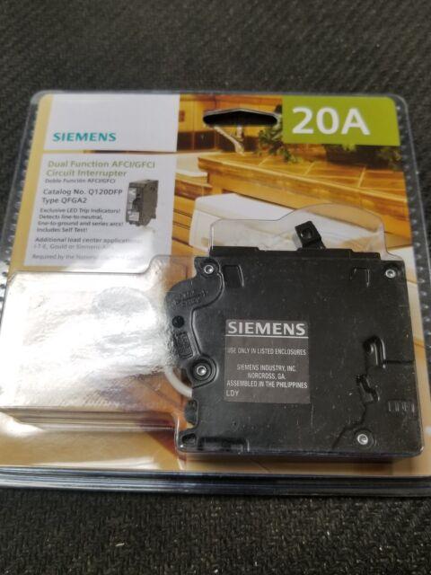 Siemens Q120df 20 Gfci Dual Function Circuit Breaker 887621817329