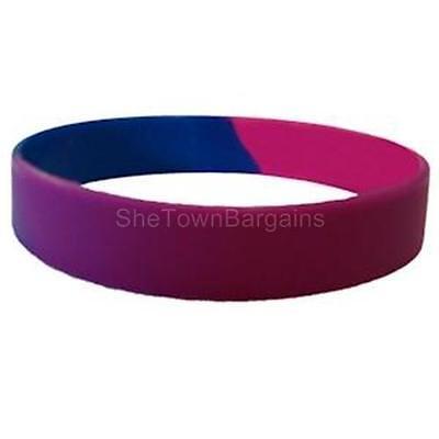 Bisexual Pride Silicone Bracelet Bi Gay Pride Bracelet LGBTQ