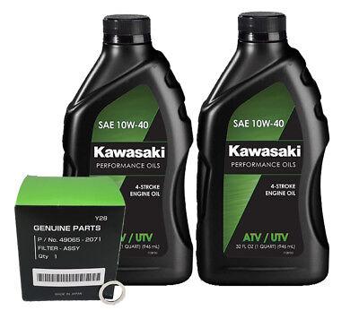 Kawasaki KAF620 MULE 4000 4010 OEM Conventional Oil Change Service Kit EBay