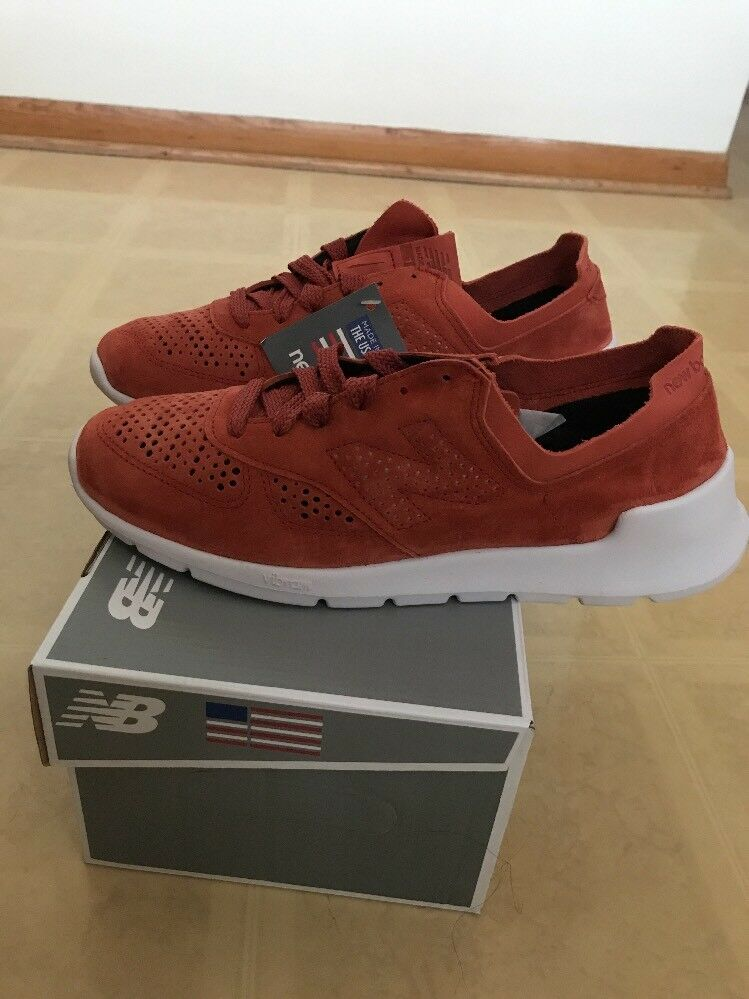 new balance size 9 mens Red Salmon 1978hb Genuine Suede