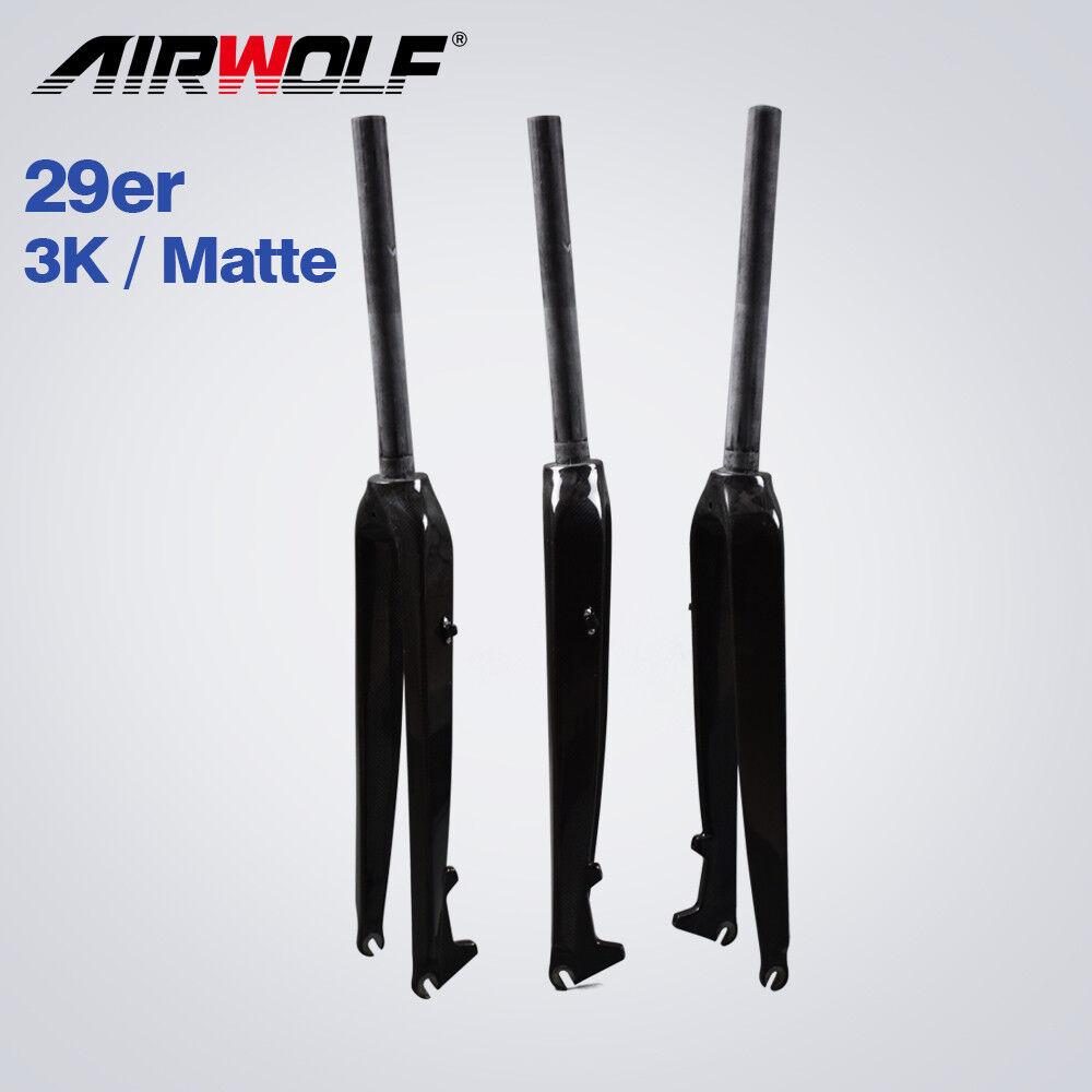 2018 New MTB carbon fork 29er mountain bike straight rigid forks 3K matte