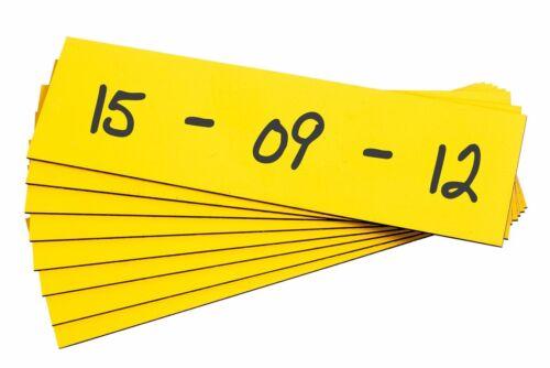 100x Magnet-Lagerschilder gelb Lagerkennzeichnung Regalkennzeichnung Schilder