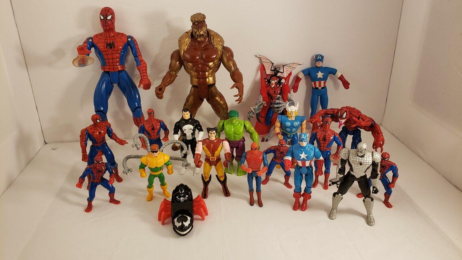 Marvel Spiderman Thor Wolverine Punisher capitan amaerica hulk figuras veneno 20