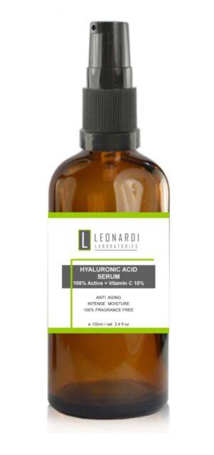 2 x 50ml Pure 100% Hyaluronic Acid Serum Vitamin C  50ml
