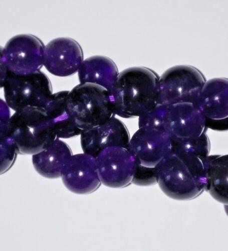 4 mm x 28 Natural Amethyst Loose Gemstones Round UK Seller