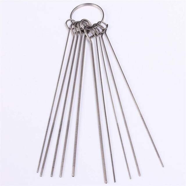 Durable Stainless Steel Needle Set 10Kinds PCB Component Desoldering Via Hole