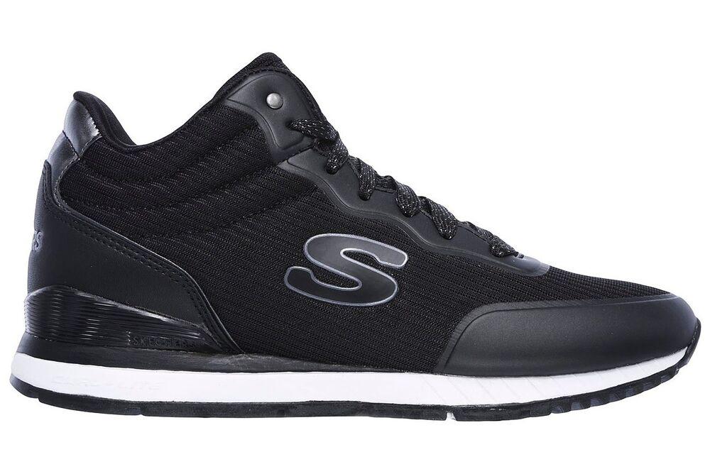 100% Vrai Skechers Sunlite Vega High 920 Blk Scarpe Donna Sportive Sneakers Casual Nero