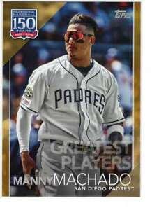 Manny Machado 2019 Topps Update 150 Years of Professional Baseball 5x7 Gold #150