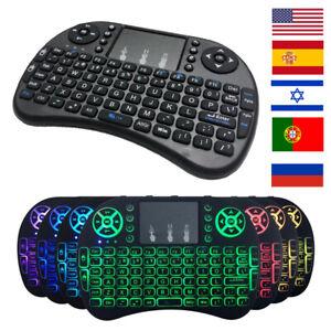 Détails sur Mini clavier sans fil 2.4ghz Anglais Arabe russe Hébreux QWERTY Pavé Tactile HQ afficher le titre d'origine