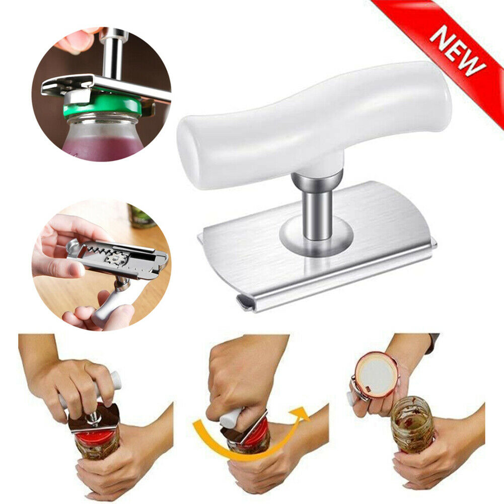Adjustable Stainless Steel Manual Can Opener Jar Bottle Tools Tin Kitchen H0U9