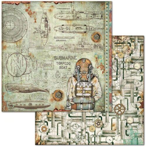 1 set scrapbooking papel-doble cara 20,3cm-sea World-SBBs 13 Stamperia
