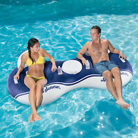 Corona Always Summer 2-person Inflatable Mesh Inner Tube Lounge With Cooler on Sale