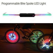 Programmable Bike Cycling Spoke Flash LED Light Wheel Tire New For Mountain Bike
