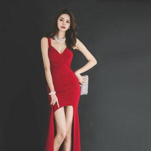 1b8f7f10fafd Caricamento dell immagine in corso vestitino-abito-lungo-tubino -rosso-evento-moda-slim-