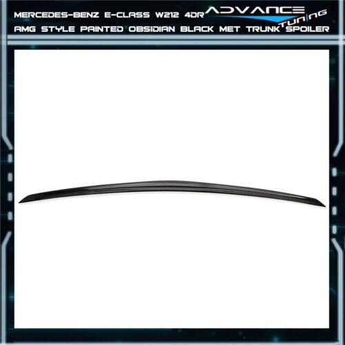 10-16 Benz E-Class W212 Trunk Spoiler OEM Painted Color # 197 Obsidian Black Met