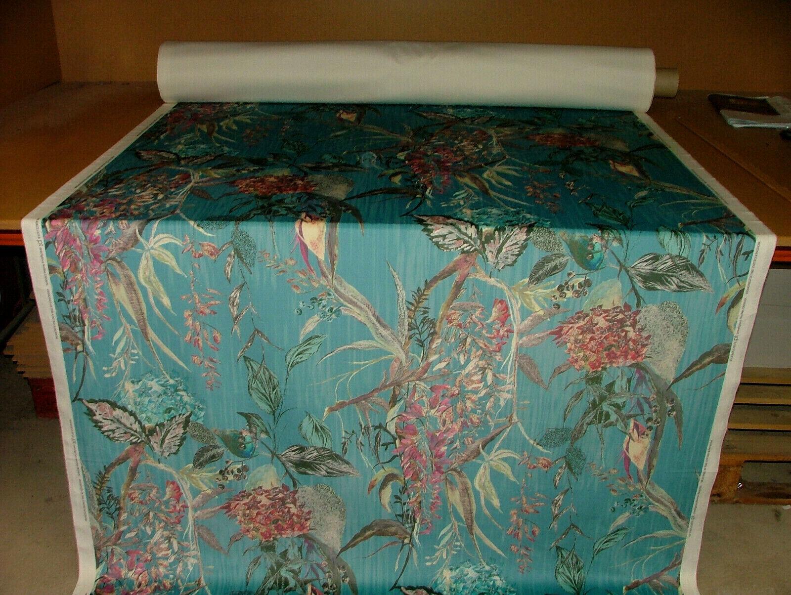 Botanist Plants Peacock Botanical Curtain Upholstery Cushion Plush Velvet Fabric