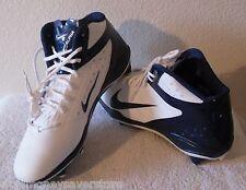 NEW Nike Alpha Talon Elite D Mens Football Cleats 14.5 White/Navy MSRP$120