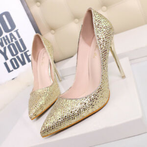 Cm Strass Shoes Elegant Donna Stiletto 9647 Like 10 Court Gold Leather qt0Rqw