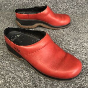 Women's Shoes Clothing, Shoes & Accessories Dansko Sport Women's 40 Us Size 9.5-10 Clog Red Leather Made In Spain In Euc Crease-Resistance