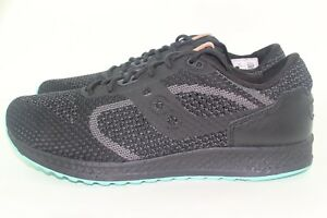 online store f23f3 0b77b Details about SAUCONY SHADOW 5000 EVR MEN 11.0 S70396-2 BLACK TURQUOISE NEW  COMFORT RUNNING