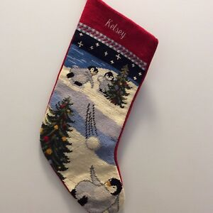 Kelsey-Personalized-Lands-End-Needlepoint-Christmas-Stocking-Penguin-Snowball