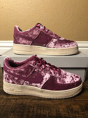 crushed velvet air force ones