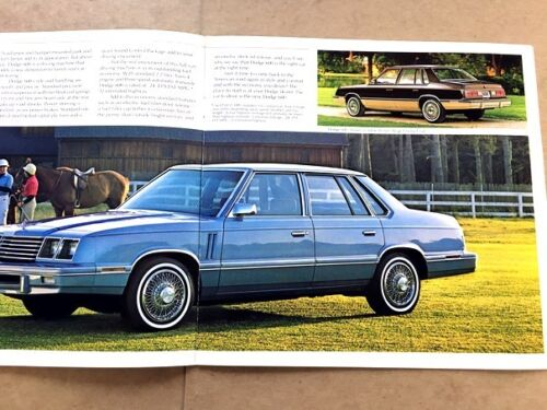 Sedan 1983 Dodge 600 600ES Original Sales Brochure Catalog