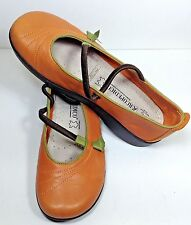 Arcopedico Vitoria Mary Jane Shoes Orange Flats Womens US 7-7.5M EU 38 EUC