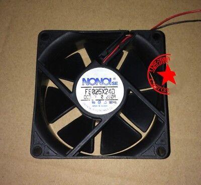 1Pcs NONOI SE F8025X24D 24V 0.260A 8CM 8025 2-wire drive cooling fan